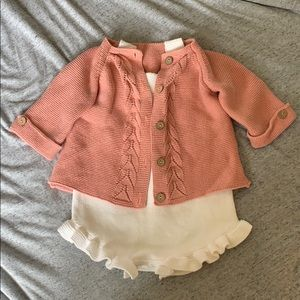 Other - Toddler knit romper and cardigan set 18-24 months
